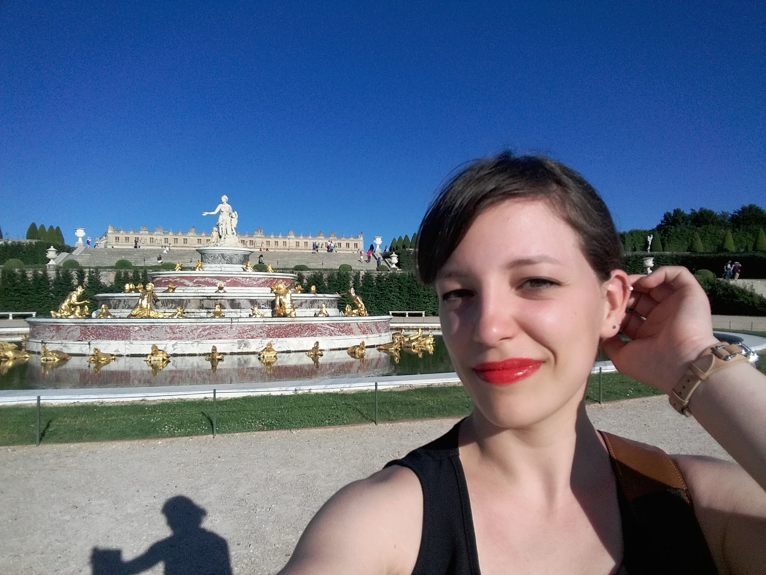Meet Kate, posing here in a fantastic selfie at the majestic Versailles Palace.