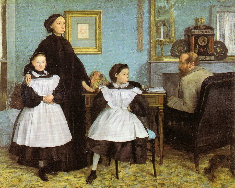 Unable to see her original Degas in person, Kate was pleased to see this work, The Bellelli Family  (1858-1867), a painting that was discussed in the resource materials she studied when preparing her studio projects.