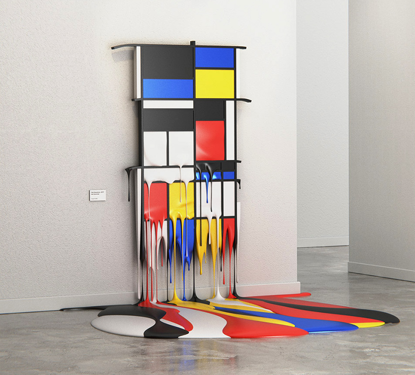 """""""Alper Dostal melts masterpieces to imagine art without air conditioning"""""""