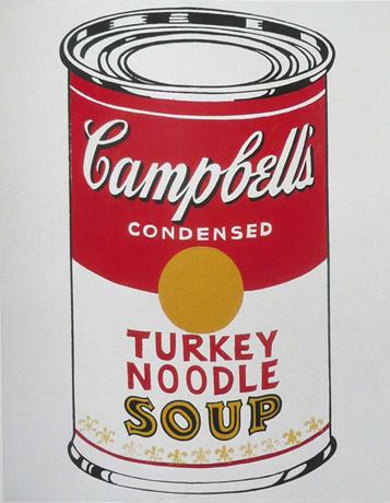 Andy Warhol, Turkey Noodle Soup  (1962)