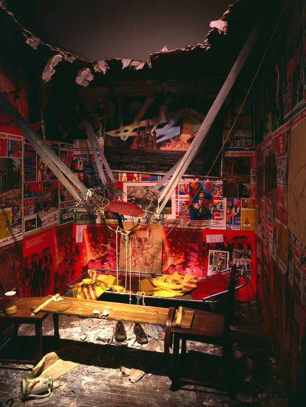 Ilya Kabakov,  The Man Who Flew Into Space From His Apartment  (1985)