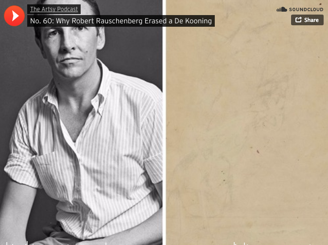 """Why Robert Rauschenberg Erased a de Kooning (PODCAST)"""