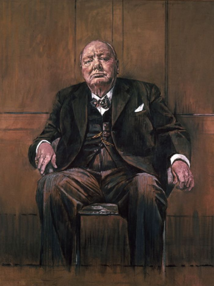 Graham Sutherland's portrait of Winston Churchill (1954) was cause for controversy and a very disapproving Churchill.
