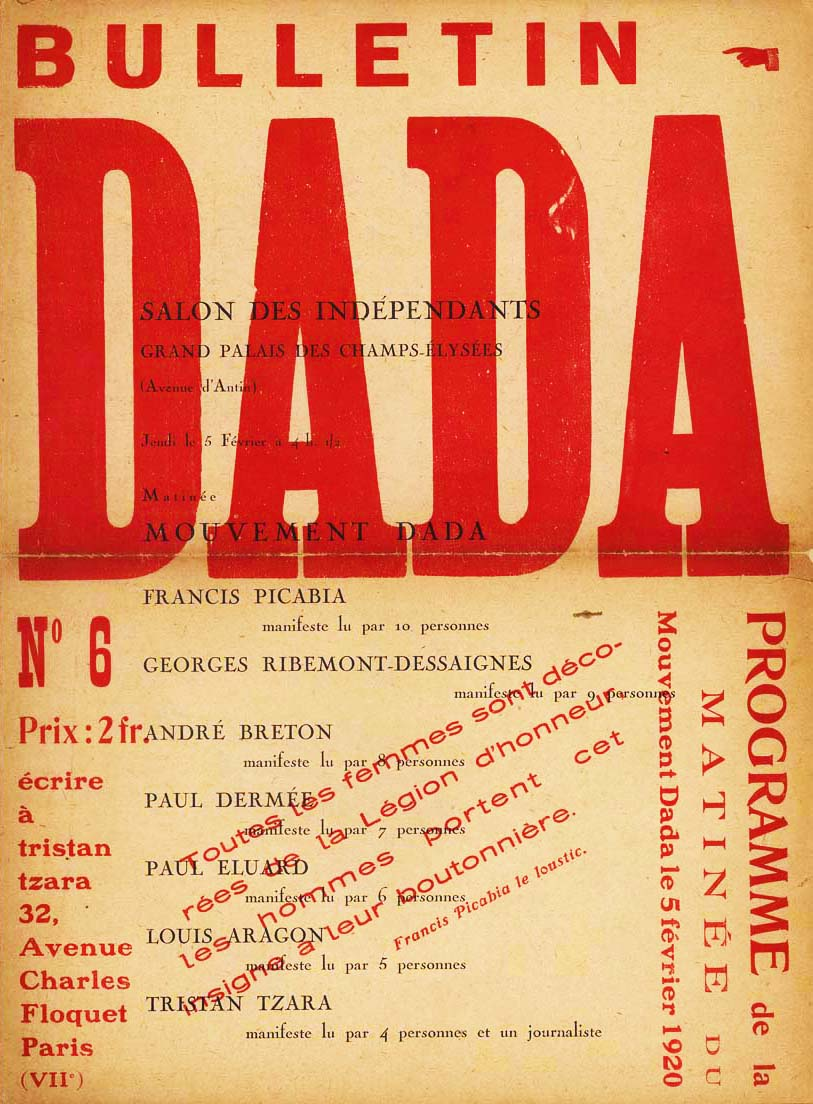 Dada is the subject of research and the topic I choose will narrow the research focus