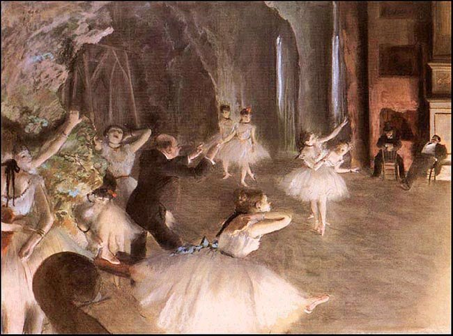 One must research how the ballerina was understoodand interpreted by late 19th C. Parisians to understand the fullcontext of Degas' Ballet Rehearsal on the Stage (1874)