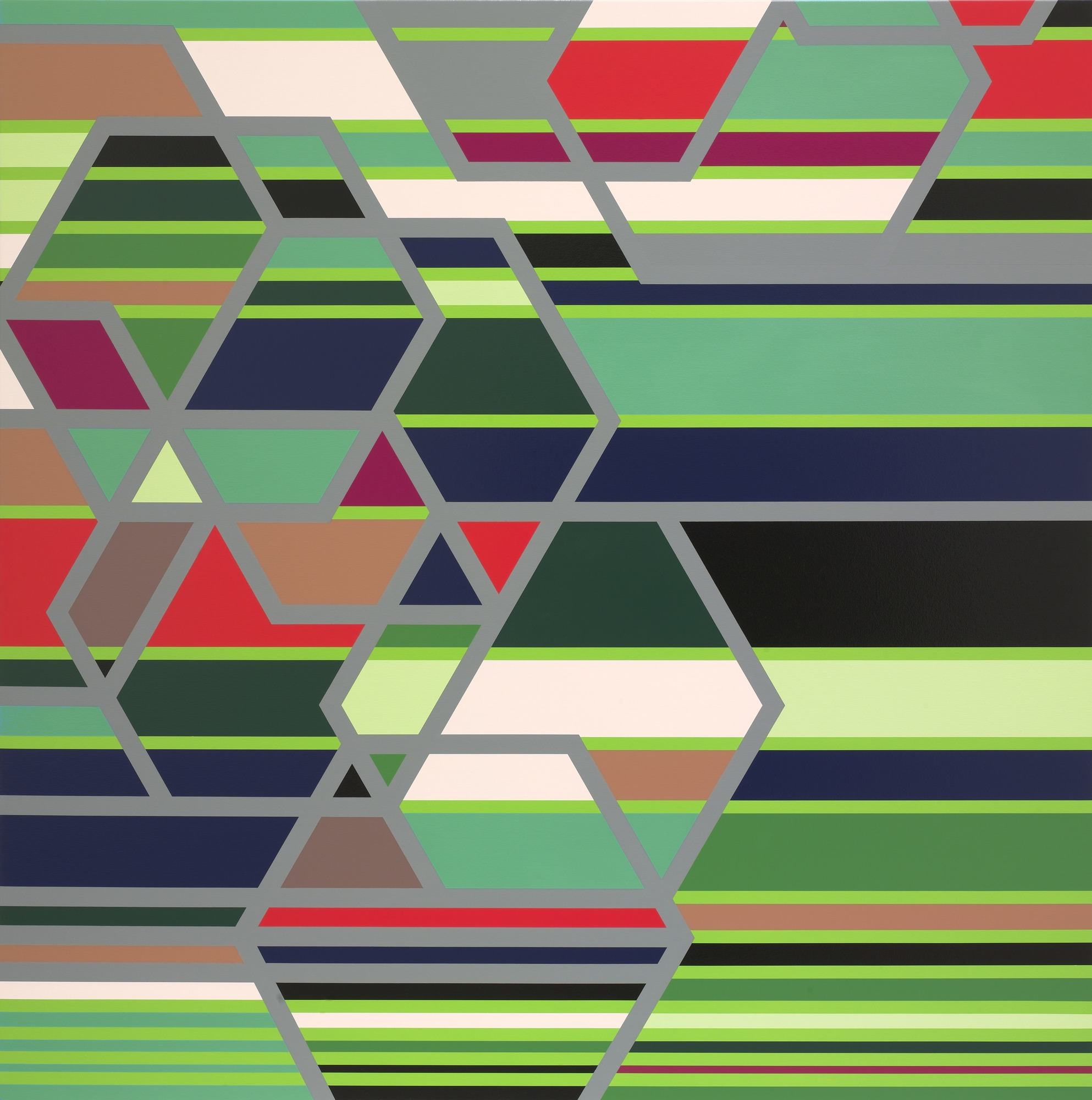 Sarah Morris,  Creative Artists Agency (Los Angeles)  (2005). Power relationships rendered in abstraction-- the perfect representation of Hollywood and the film industry honouring its best in tonight's 90th Annual Academy Awards.