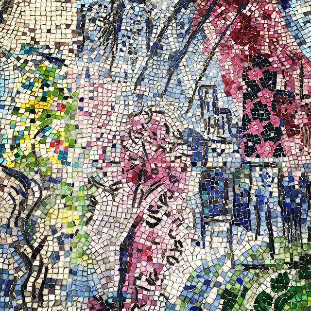 Detail from Marc Chagall  Four Seasons  mosaic (1974) in Chicago.