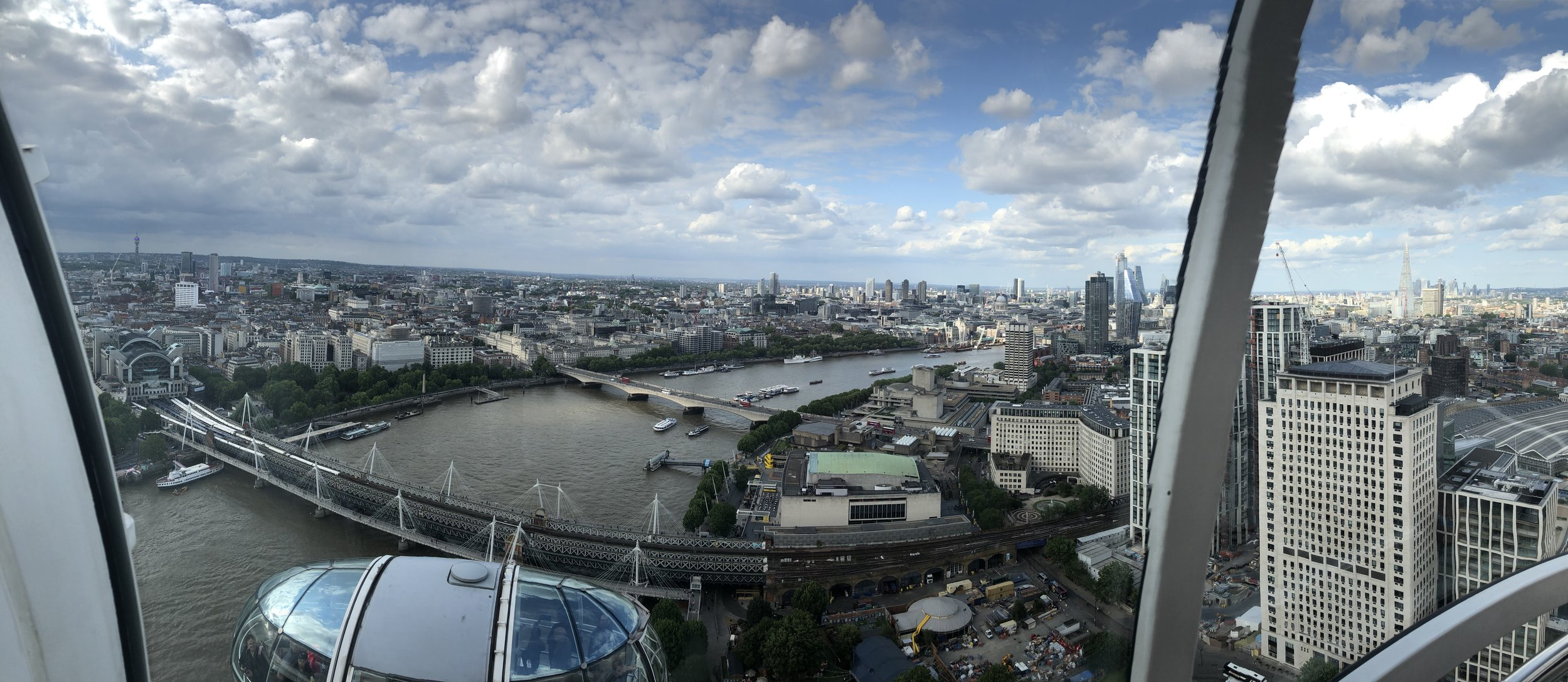 A panoramic shot from the London Eye.