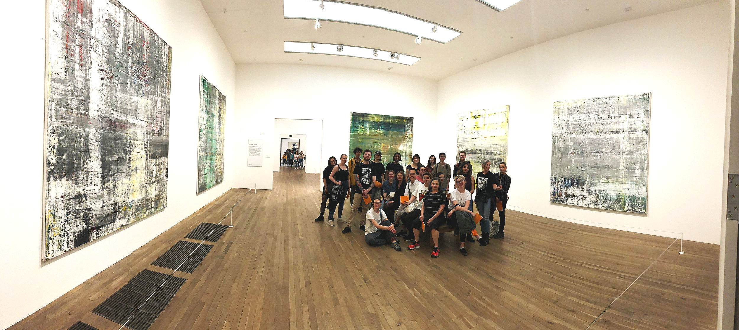 Our group posing in the Gerhard Richter room at the Tate Modern
