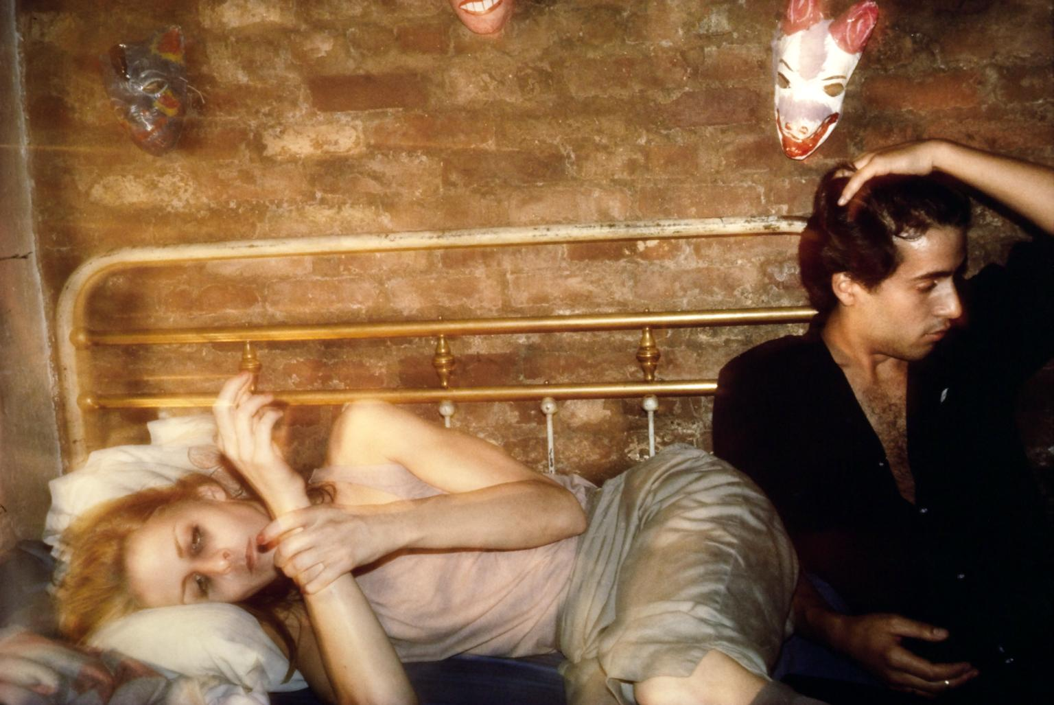 Nan Goldin, Greer and Robert on the bed, NYC (1982) was Alycia's assignment art work.