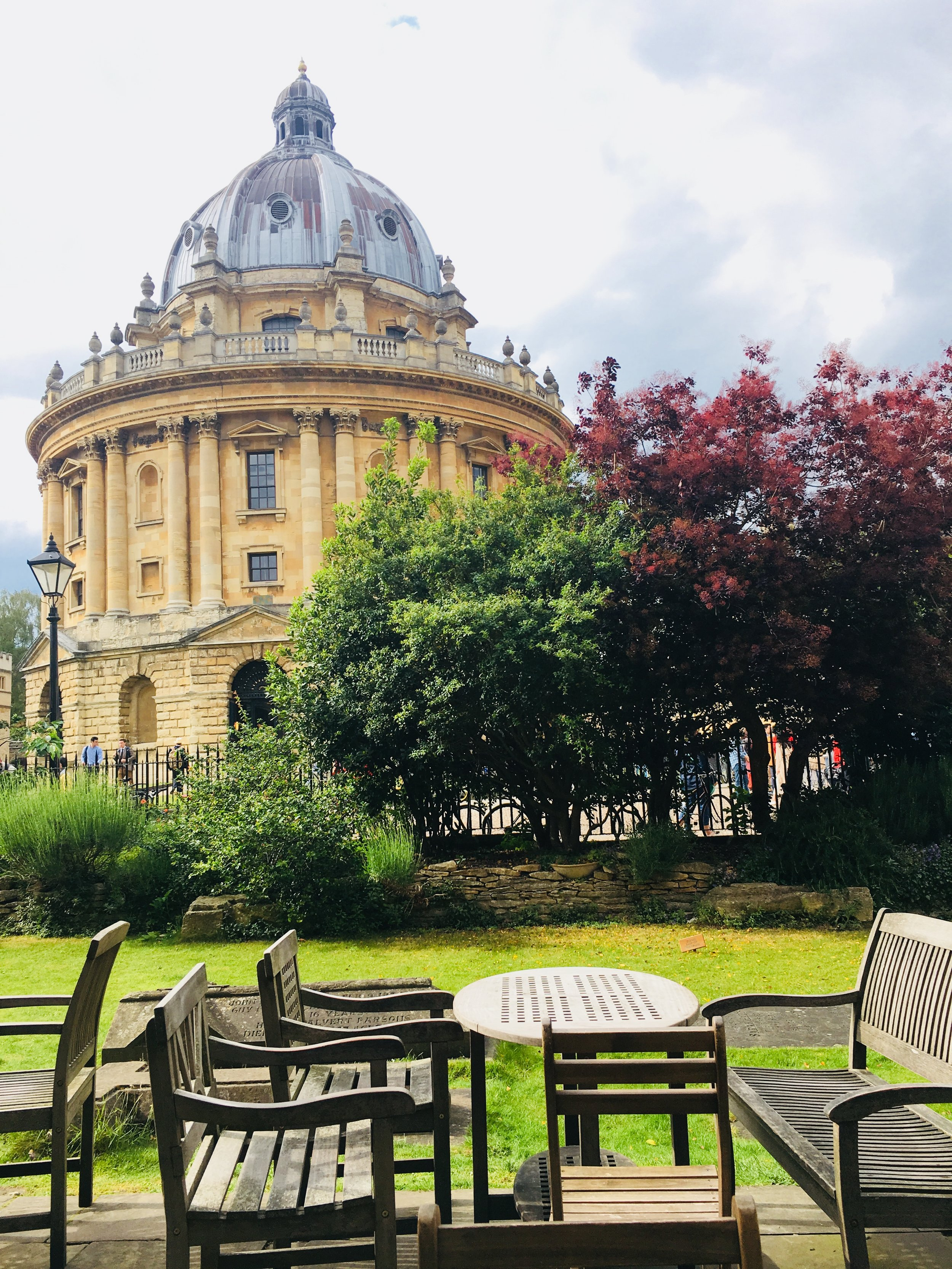 The view of Sheldonian Theatre at Oxford, described by Shonel as associated with an important personal moment in his travel experience