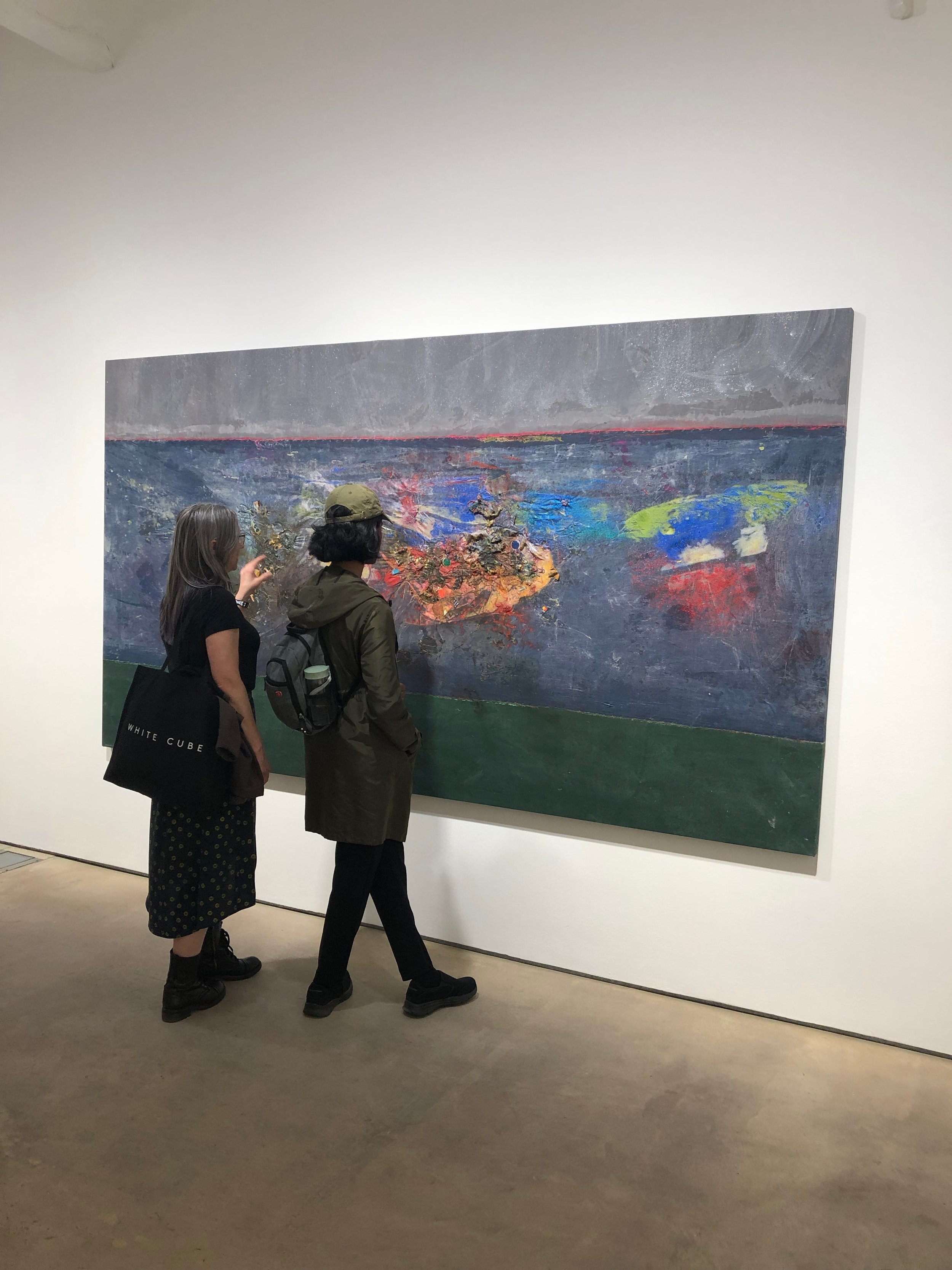 Angela, a fourth year Fine Arts student and recent graduate of the Creative Writing BFA program at KPU, examines a painting with Shonel at one of many small London art galleries dotted throughout the city.
