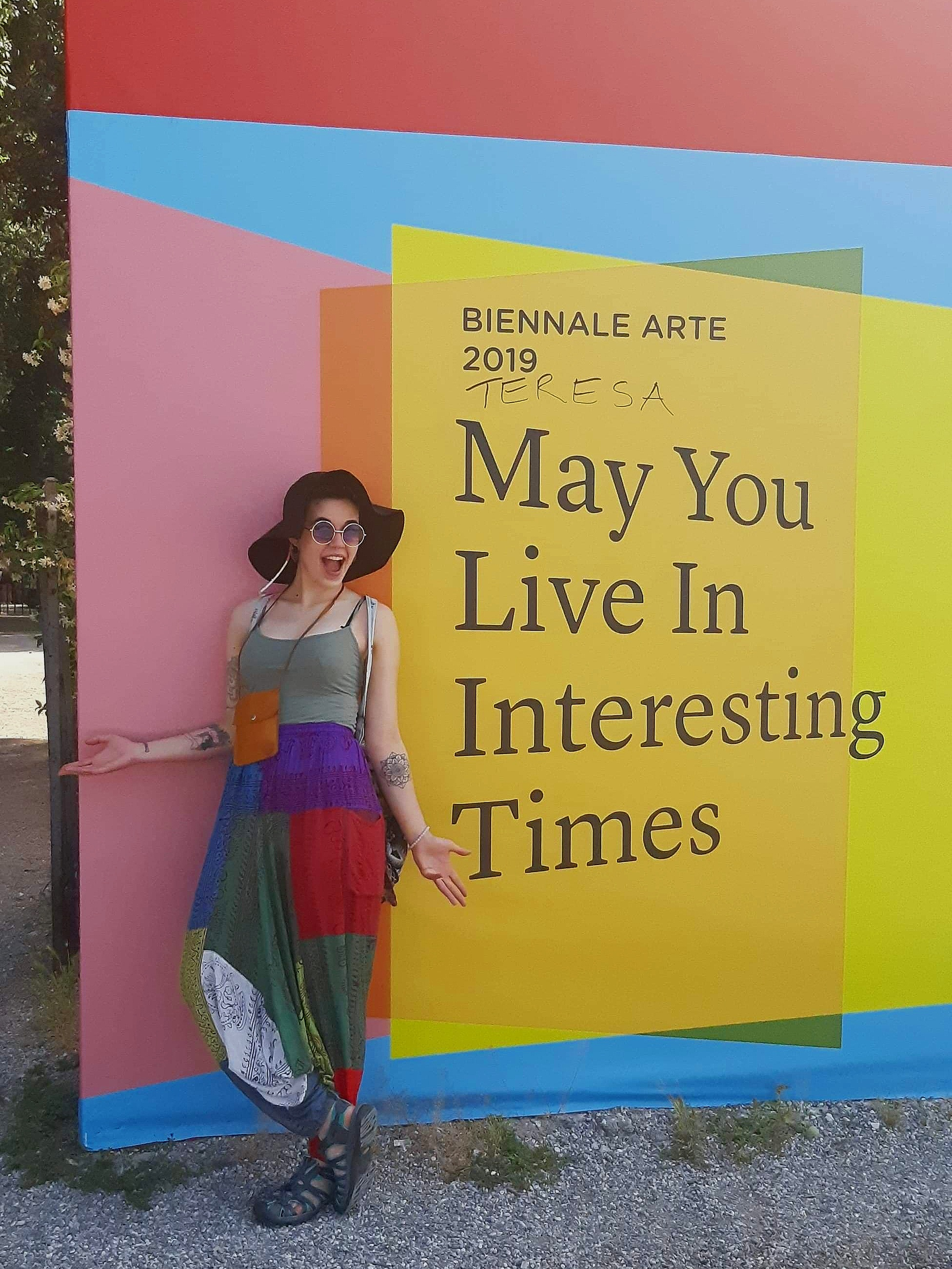 Meet field school blogger Leah, pictured here at the entrance to the Venice Biennale.