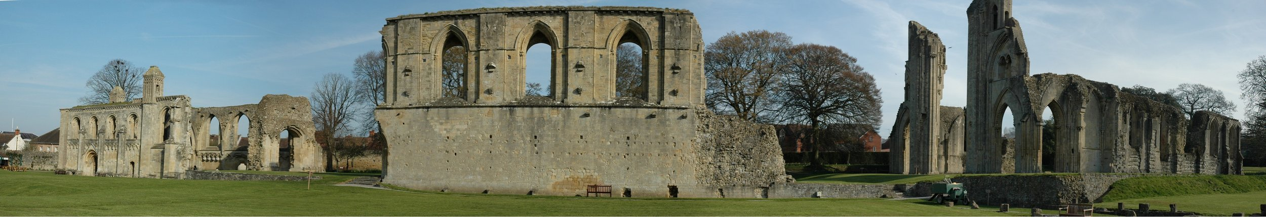 Glastonbury Abbey, including King Arthur's tomb (image from Wikipedia)