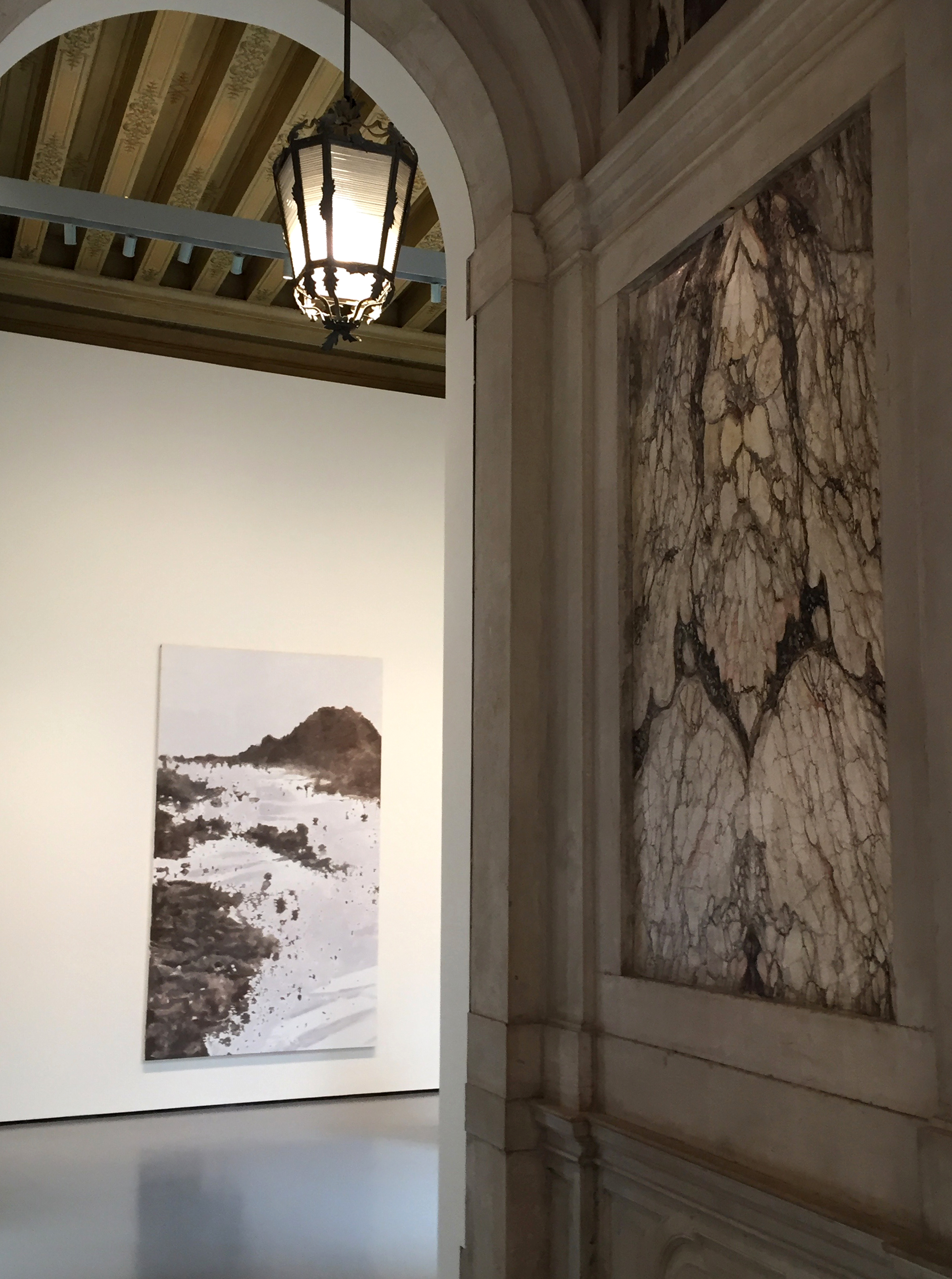 Luc Tuymans,  Mountain,  2016 at Palazzo Grassi, Venice, a part of the extraordinary day of art exhibitions Elizabeth experienced on the final day of the field school in Venice.