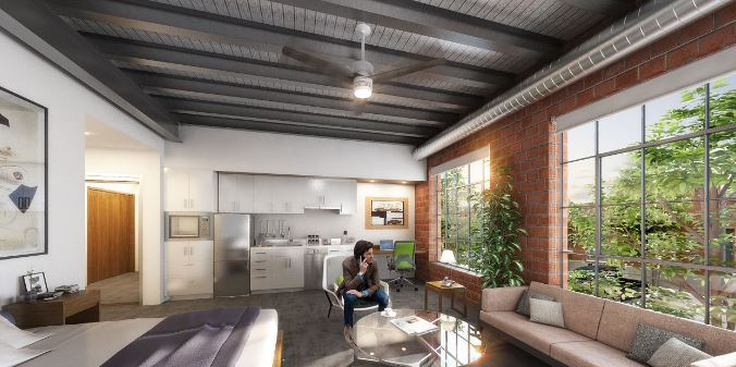 The Archer Building - Apartment Rendering