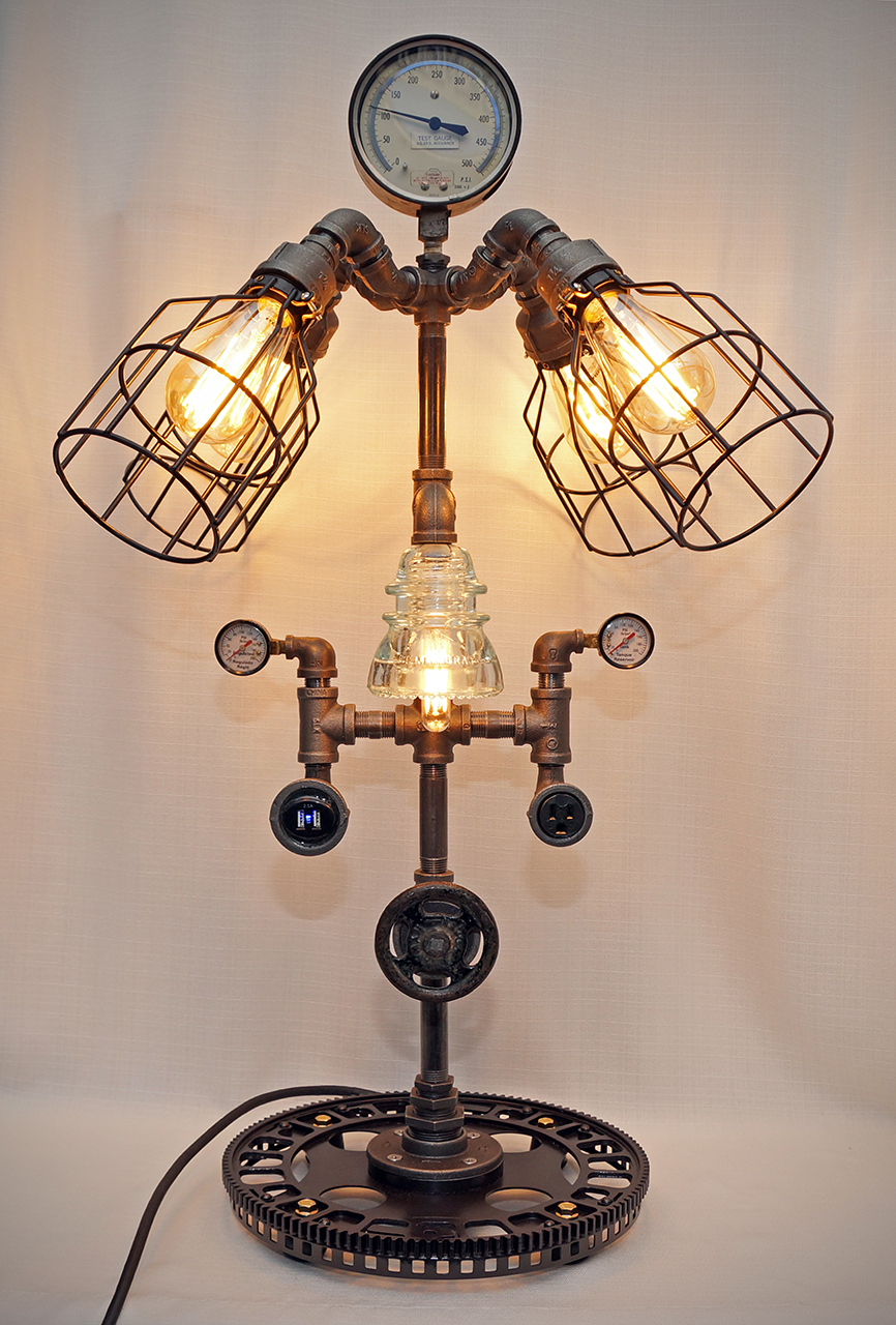 Steve Gallagher's Steampunk & Industrial Lamps