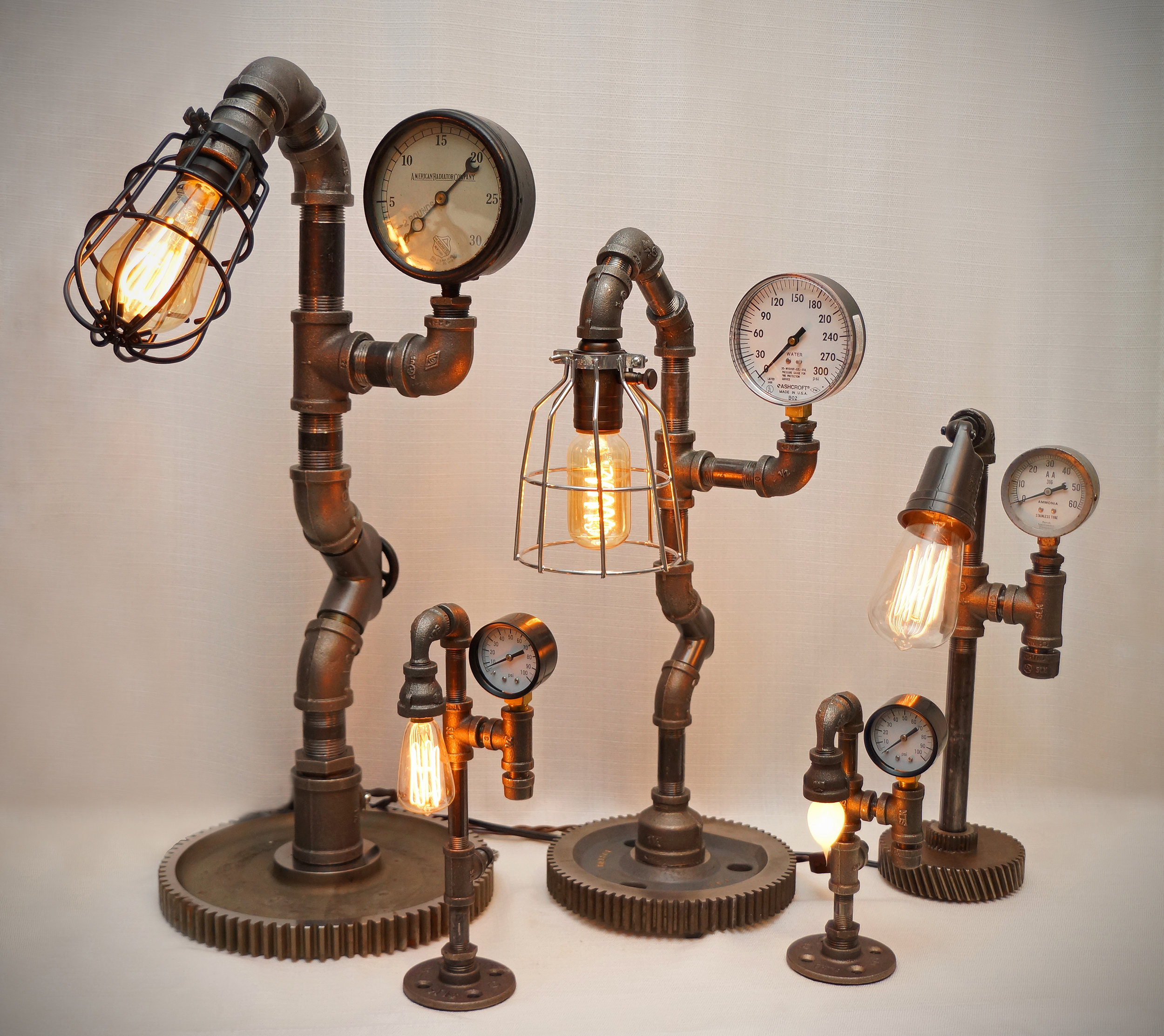 Steven Gallagher-    Steampunk and Industrial Pipe Lamps by Stephen Gallagher       @stevegallagherlamps  Roslindale House