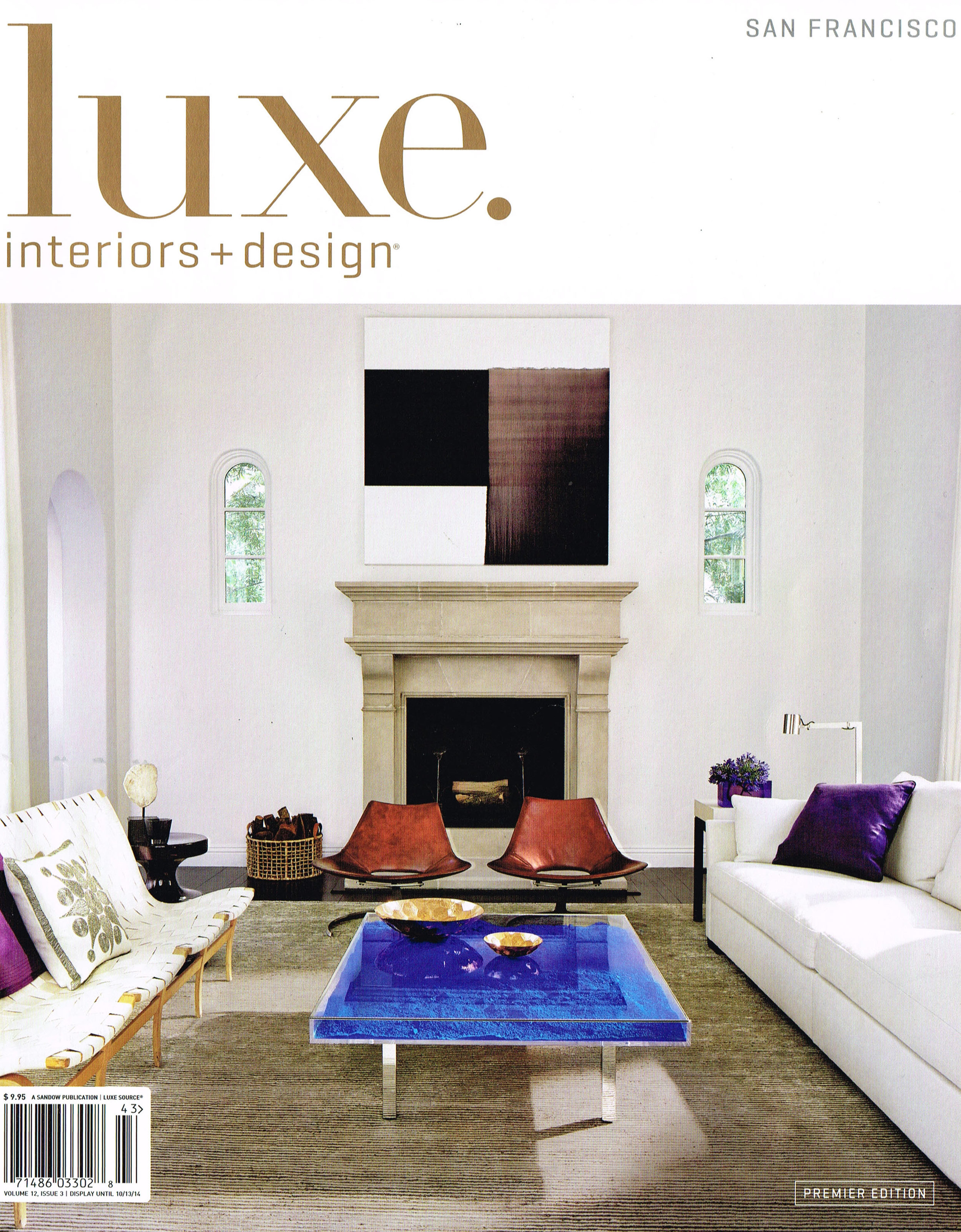 "Luxe Interiors + Design  |  AUGUST 2014   ""Covering Ground"""
