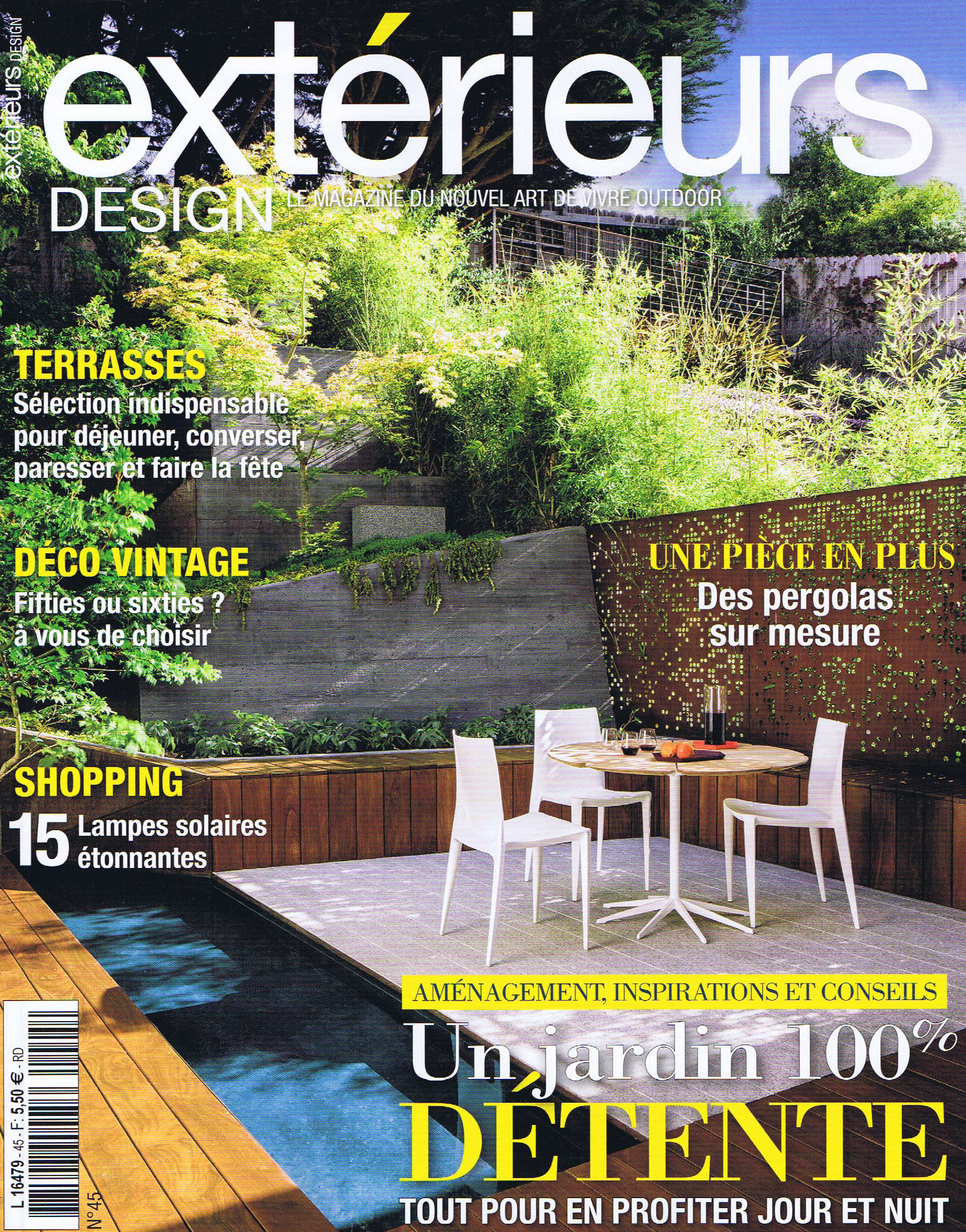 "Exterieurs Design   ""Paliers de Decompression"" - French magazine features Zeterre garden design in Los Gatos, CA"