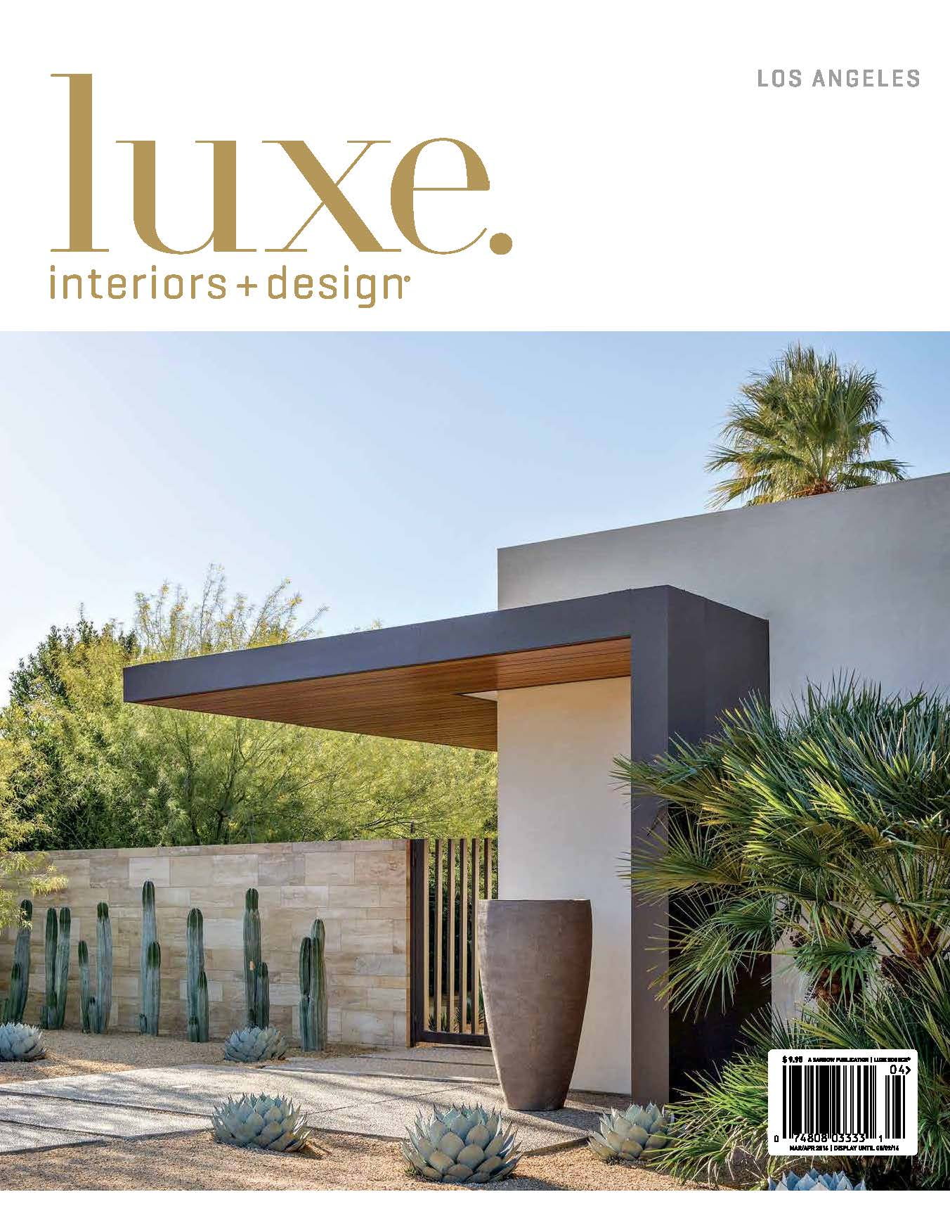 "Luxe Interiors + Design  |  MARCH/APRIL 2016   ""Desert Romance"""