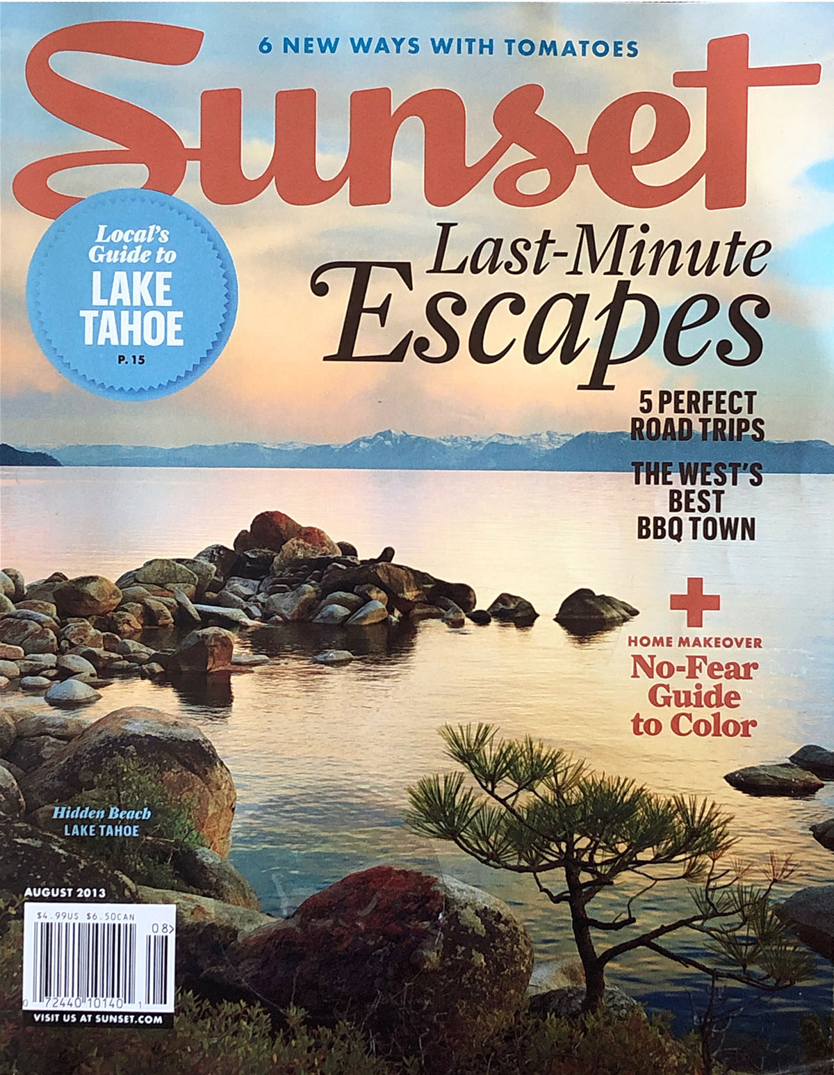 "Sunset Magazine | AUGUST 2013  ""Fireworks - A California Hillside? Surprising Plant Combinations at Every Turn."""