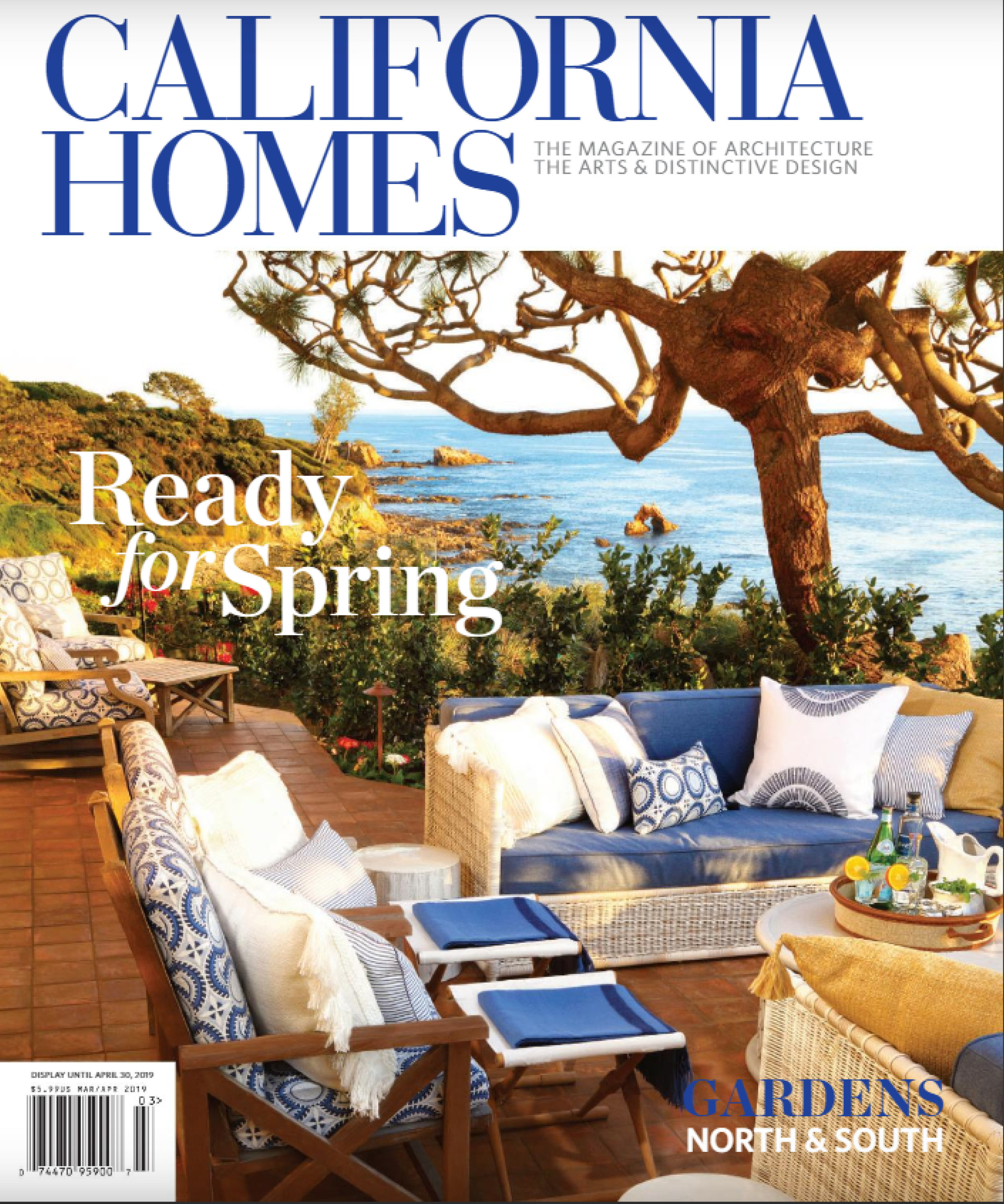 "California Homes  |  MARCH/APRIL 2019   ""Green with Envy"""