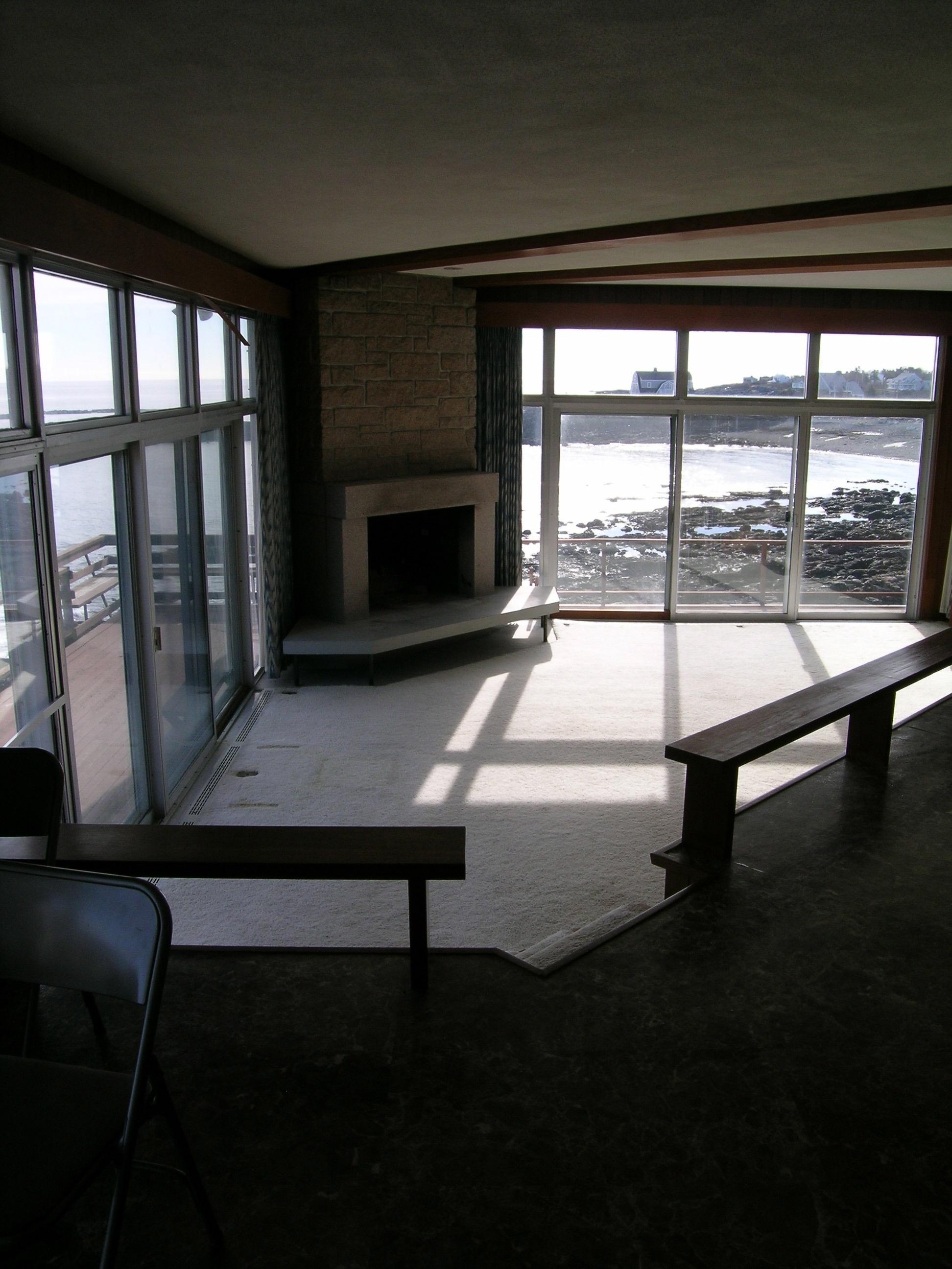 living room prior to renovation