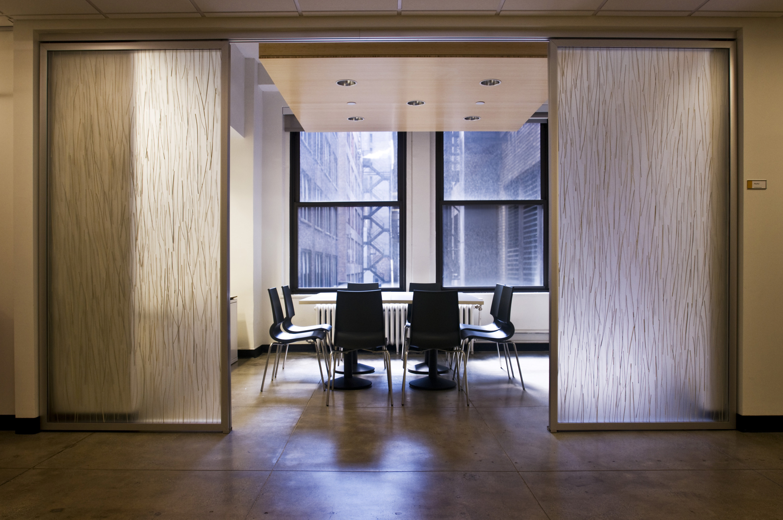 Renovation of two floors in an existing high-rise in the garment district of lower Manhattan for use as administrative offices for a national non-profit.