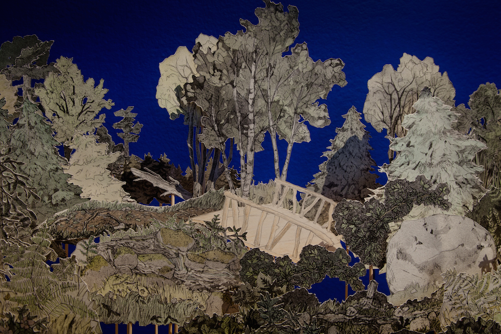 Diorama of the Gardens; a reconstruction of Downs' Zoological Gardens, Detail