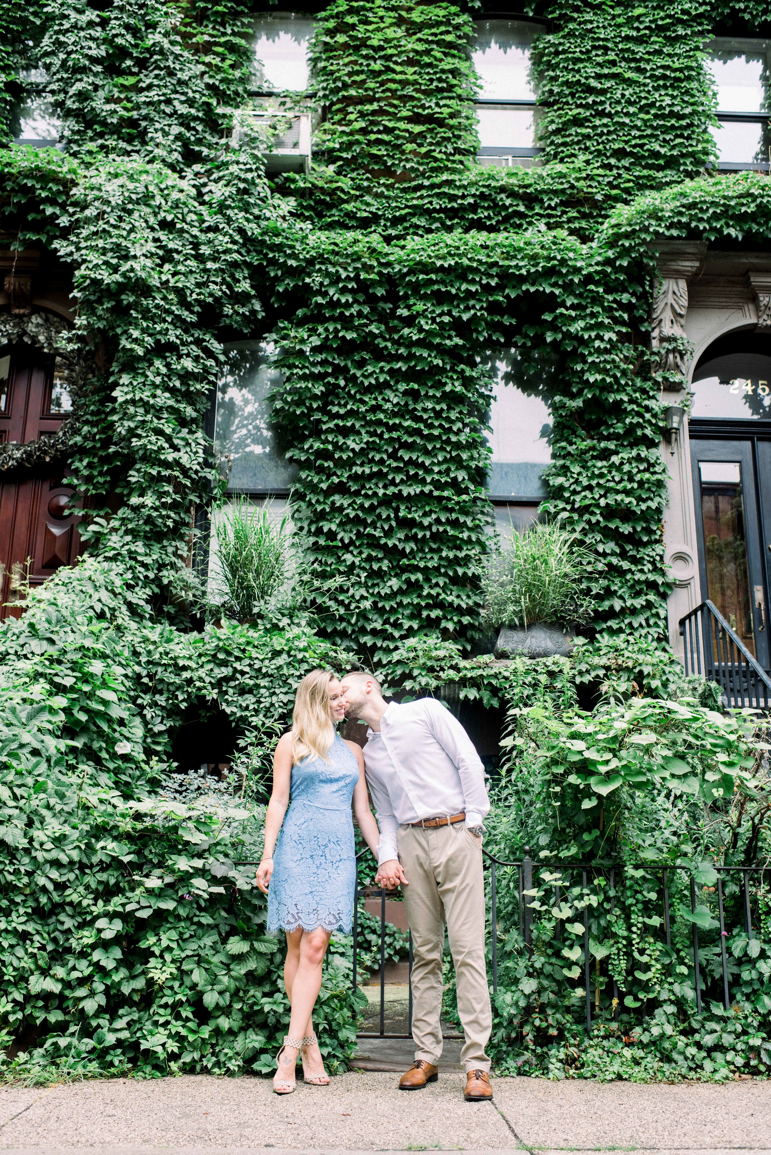 Engagement photo, brooklyn engagement, brownstone covered with ivy, brownstone, bride to be, brooklyn, cute, formal engagement session, casual engagement session, couple in love, college sweethearts, upasana mainali photography, upasana mainali