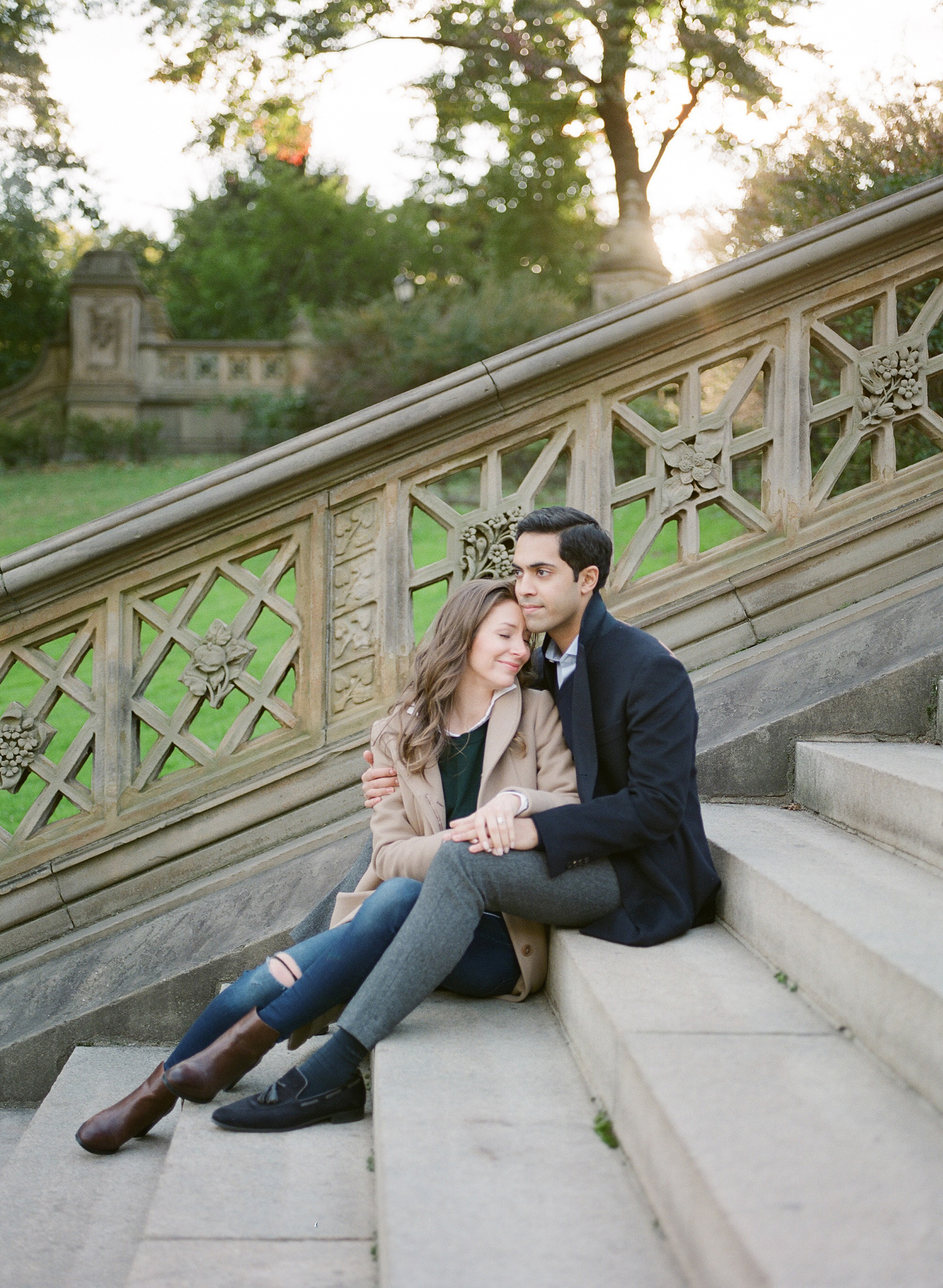 Bethesda Terrace Sunrise Engagement Session