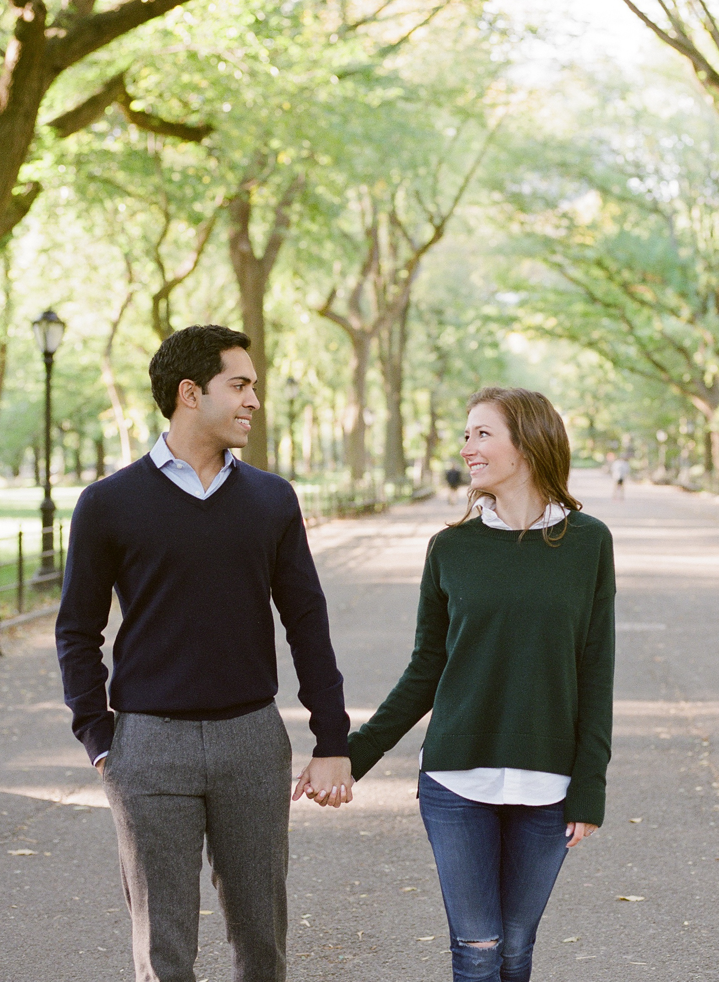 Engagement session at the Mall in Central Park