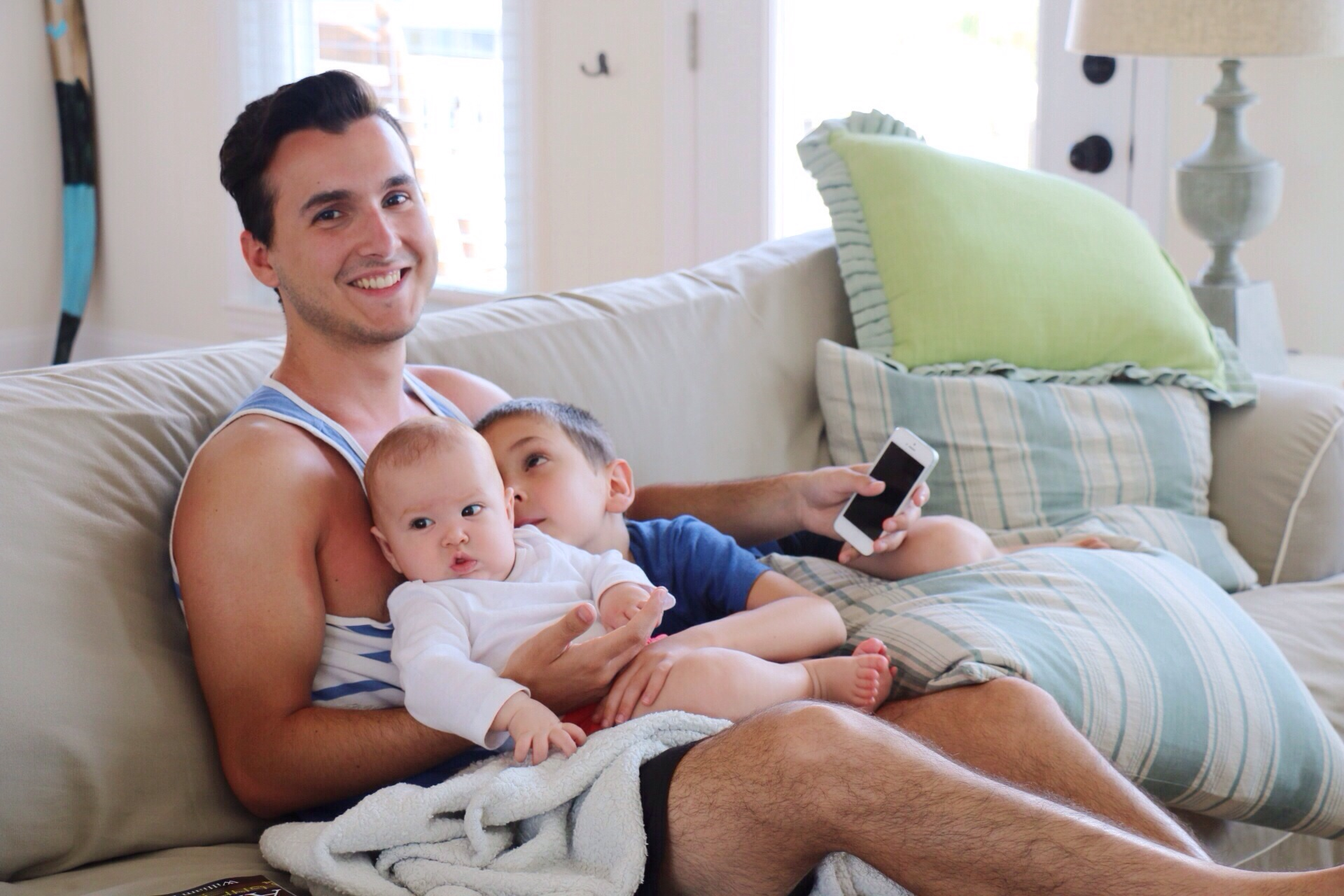 Uncle Stephen with my munchkins