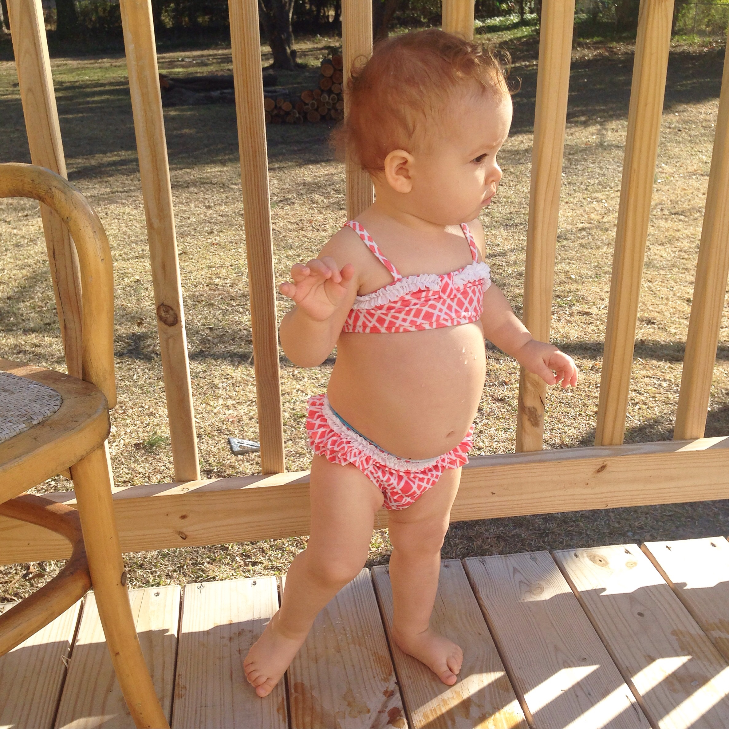 Never wants to change out of her bikini.