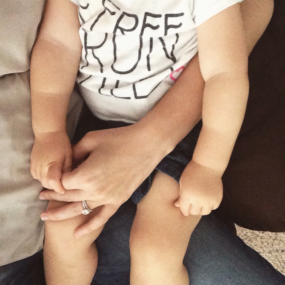 Her little hand holding my finger... I officially melted.