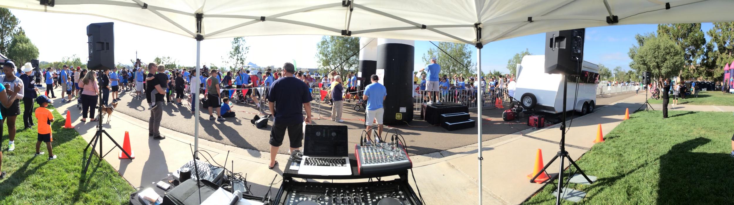 LT5k Charity Run, NTC Promenade, San Diego DJ