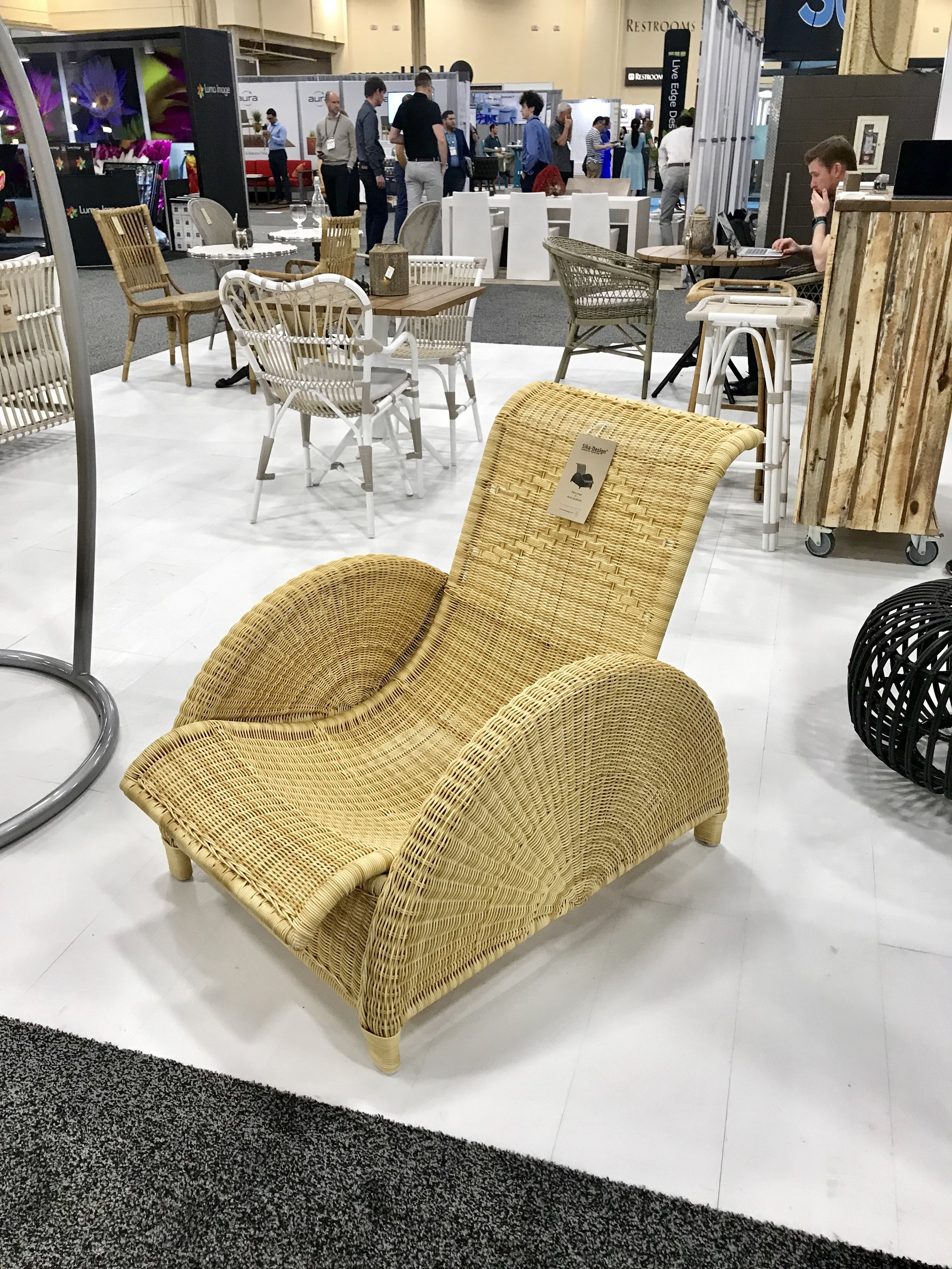 HD Expo Sikka Designs Rattan Chair