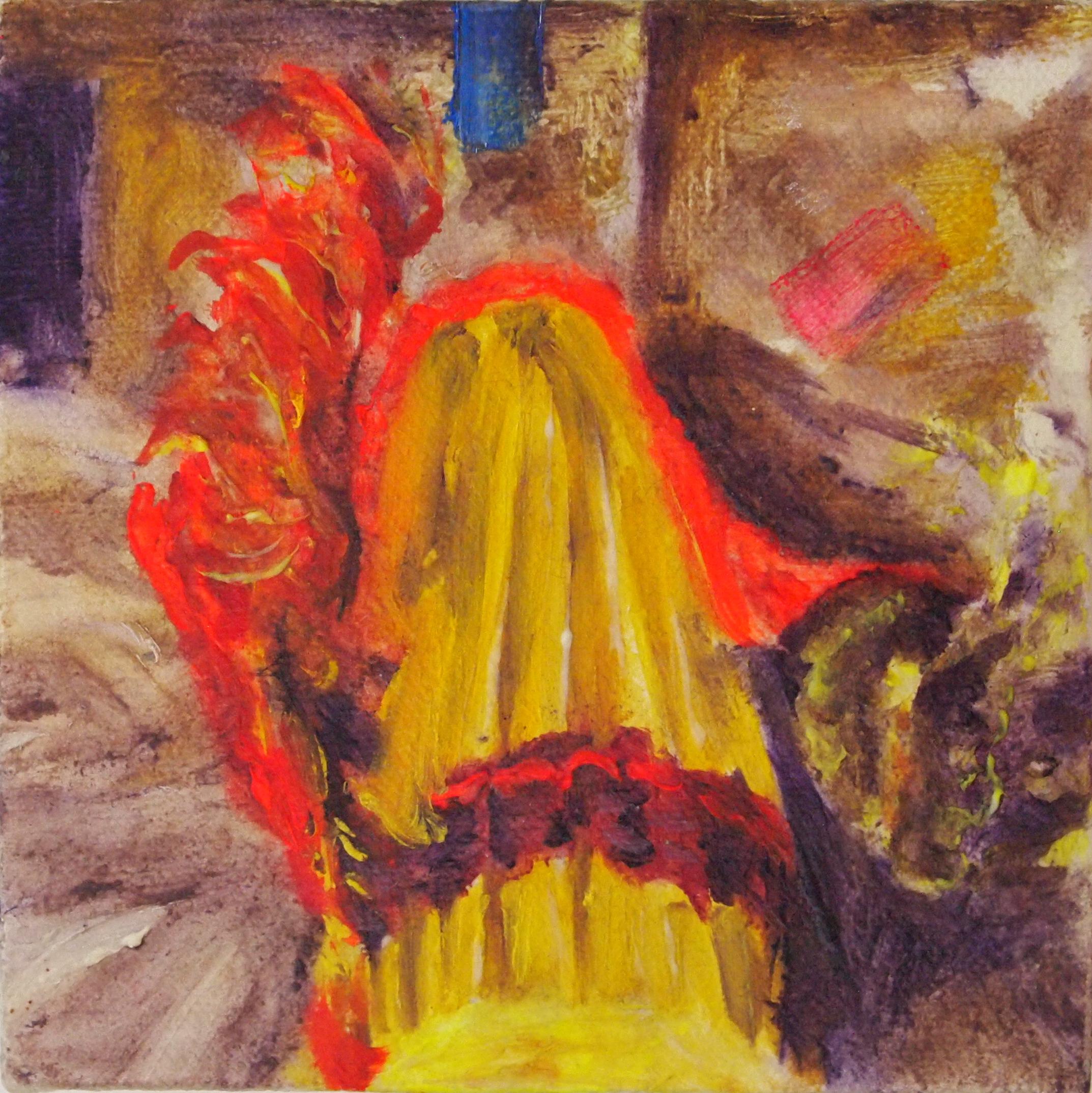"""4"""" x 4""""  Oil on Cavas"""