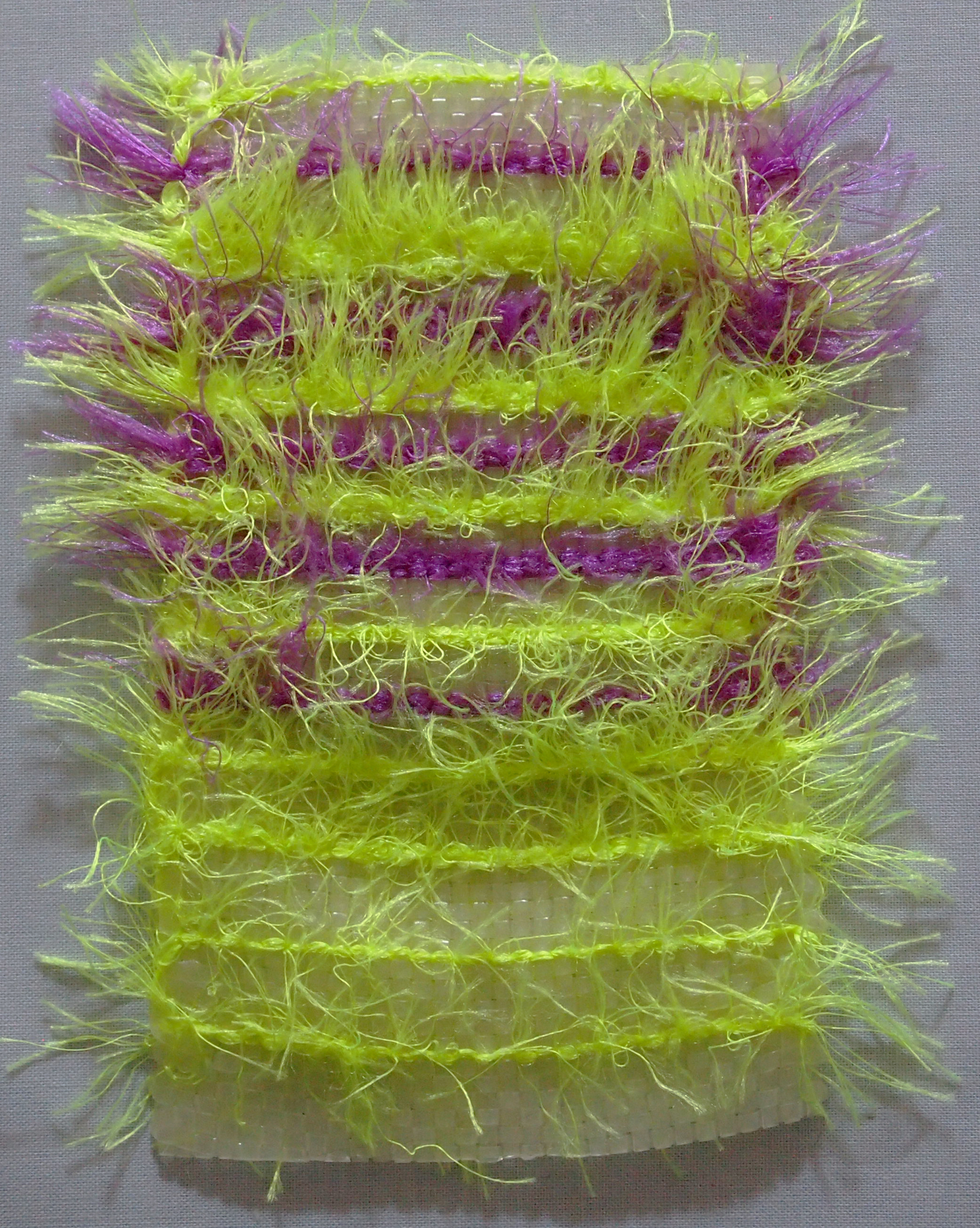 Hand Woven,  Glow-in-the-dark Plastic Lacing, Acrylic