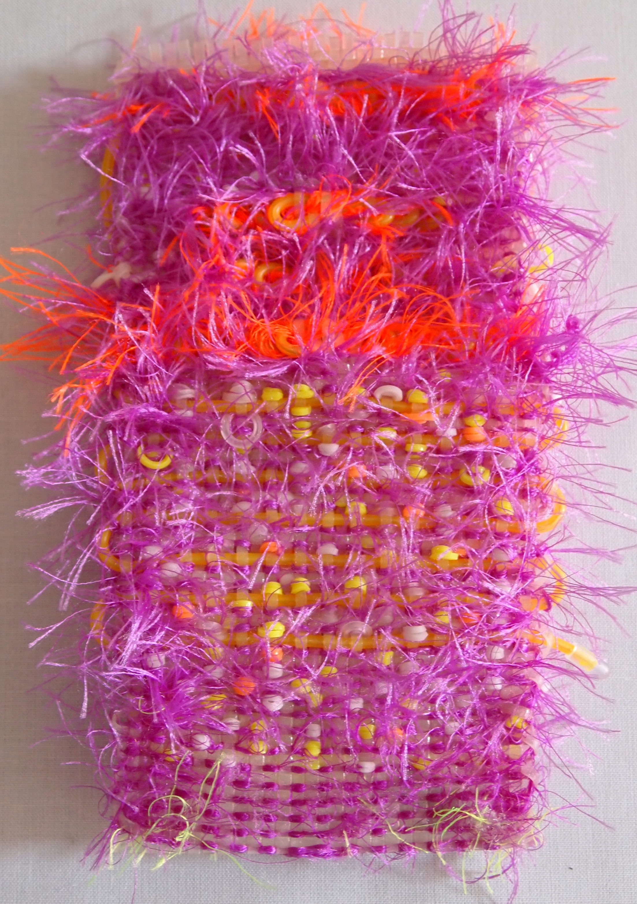 Hand Woven  Glow-in-the-dark Plastic Lacing,Monofilament, Rubber Bands, LED Wire