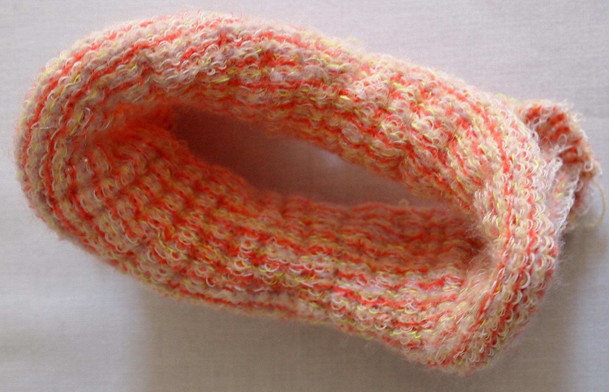 Machine Knit (Industrial Knitting Machine)  Monofilament, Glow-in-the-dark Thread, Polyester, Nylon Elastic, Mohair