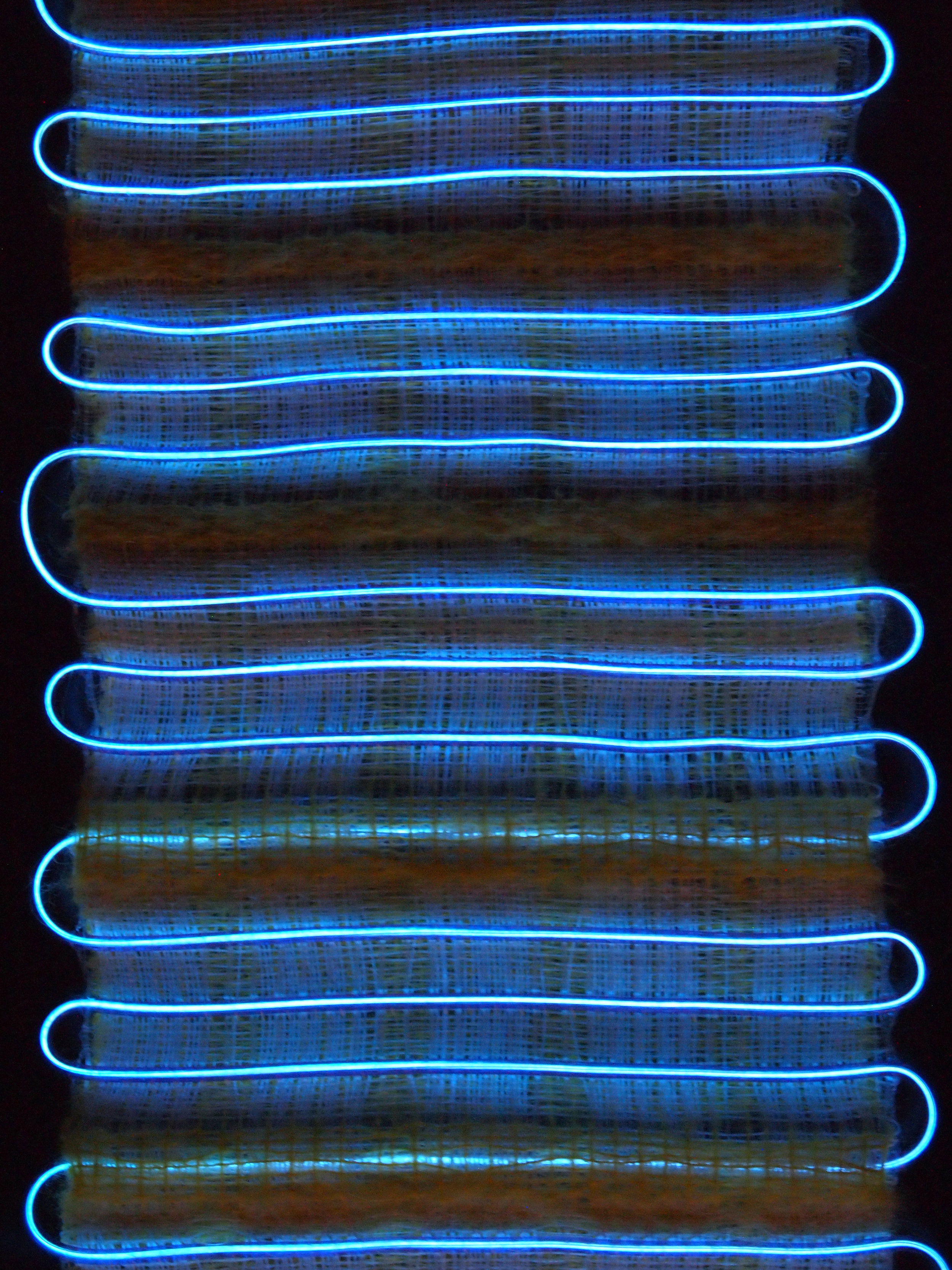 Hand Woven  Monofilament, Mohair, Glow-in-the-dark Thread,LED Wire