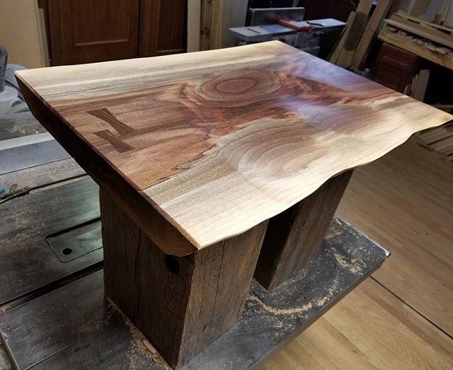 This walnut makes my butt look good. #walnut #blackwalnut #carpentry #craftmanship #keepcraftalive #salisburymd #stmichaels #eastonmd #salvagedwood #reclaimedwood #stool #bench