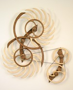 Kinetic art by David C. Roy titled White Water