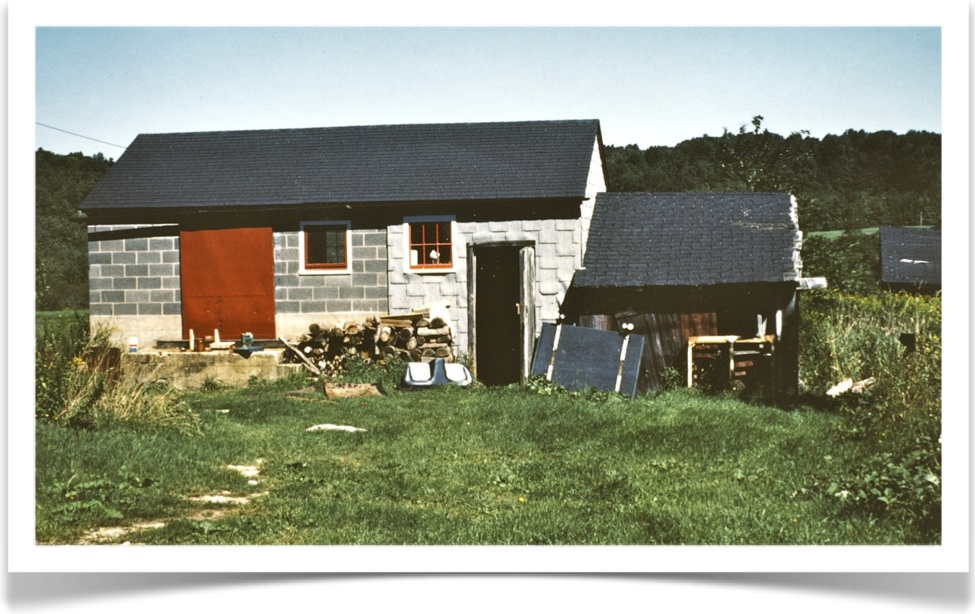 My first official studio in Woodstock, CT! c 1976