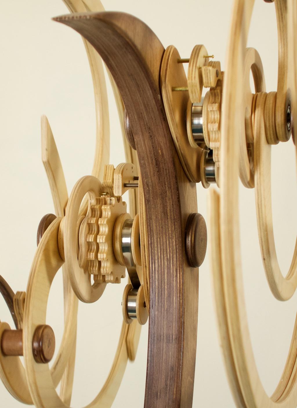 Detail Sea Frolic Kinetic Sculpture by David C. Roy 2016