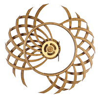 Duality kinetic sculpture by kinetic artist David C. Roy of Wood That Works