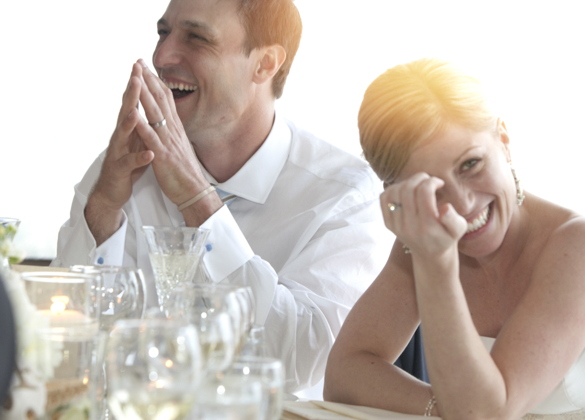 wedding photography of couple laughing