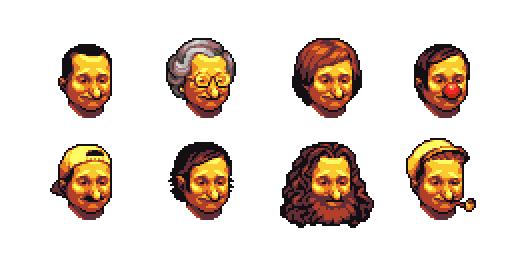 Portraits of Robin Williams